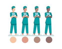 junge männliche Krankenschwester Charaktere