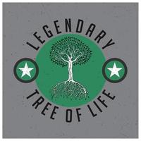 legendärer Baum des Lebens T-Shirt Design