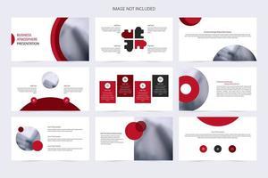 röd minimalistisk företagspresentationsmall vektor