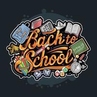 tillbaka till skolan typografi collage