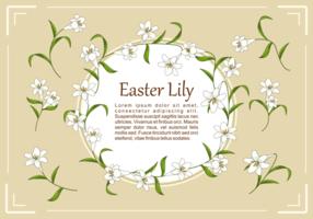 Ostern Lilien Pflanze Vektor