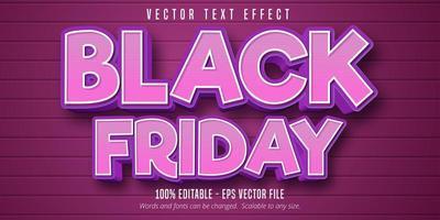 svart fredag tecknad stil redigerbar texteffekt