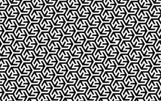 ineinandergreifendes geometrisches Schwarzweiss-Muster