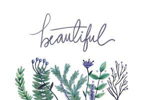 Free Watercolor Blumen Hintergrund