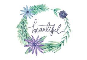 Free Watercolor Blumen Hintergrund vektor