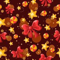 Bögen, Sterne, Wirbel Bonbons repetitiven Hintergrund vektor