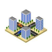 isometrisches städtisches Straßenkreuzungsdesign