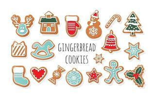 Weihnachten Lebkuchen Kekse großen Satz