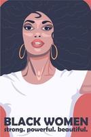 afroamerikansk kvinnakultur affisch vektor