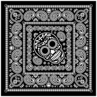 Bandana-Muster mit Schädel und Paisley