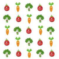 Gemüsecharakter-Karikaturmuster