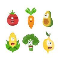frukt teckenuppsättning