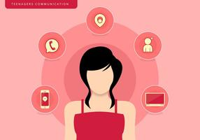 Tonåringar tjej kommunikation