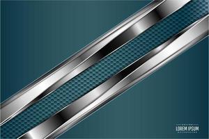 Luxusgrün und Silber Kohlefaser Textur vektor