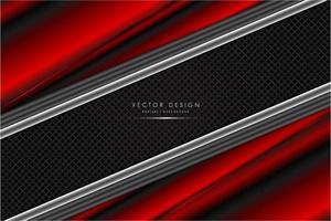 roter und silberner metallischer Hintergrund mit Kohlefaser