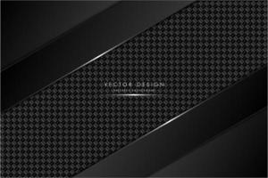 svart och grå metallisk bakgrund med kolfiber vektor
