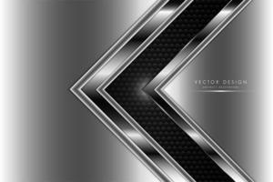 grauer und silberner metallischer Hintergrund mit Kohlefaser vektor