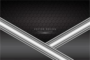 grå och silver metallisk bakgrund med kolfiber vektor