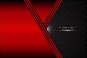 röd metallisk bakgrund med kolfiber svart utrymme vektor