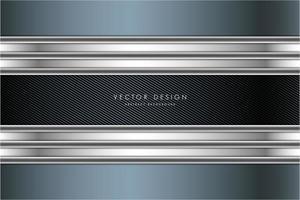 blå och silver metallisk bakgrund med kolfiber vektor