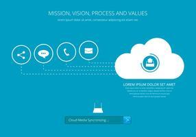 Cloud-Kommunikation Media Sharing vektor