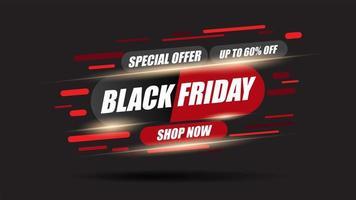 svart fredag dynamisk försäljning promo flyer vektor