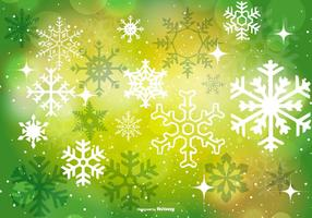 Vacker grön jul bakgrund