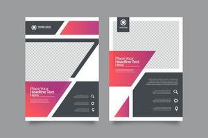 bearbeitbare moderne minimale Cover-Vorlagen