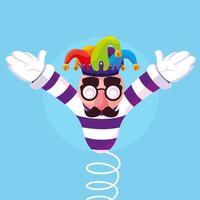 April Narren Tag mit Joker Hut mit Frühling