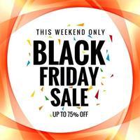 Black Friday Sale überlappendes Kurvenplakat
