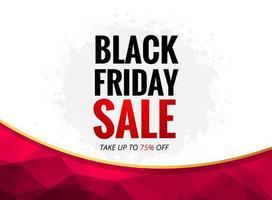 schwarzer Freitag-Verkaufsplakat mit Polygonkurve vektor