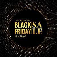 schwarzer Freitag Glitter Sale Design