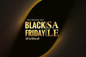 moderne schwarze Freitag Verkauf gepunktete Welle Design