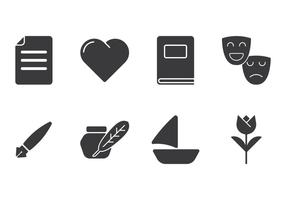 Kreative Gedicht Icons