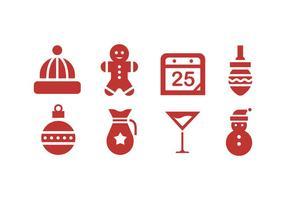 Weihnachten Icons mit weißem Hintergrund vektor