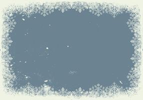 Grunge Schneeflocke Rahmen Hintergrund