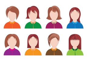Set von Personas Icon vektor