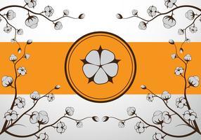 Bomull blomma vektor illustration