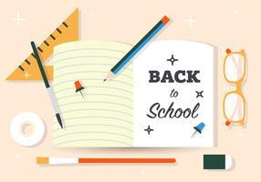Vektor illustration av tillbaka till skolmaterial