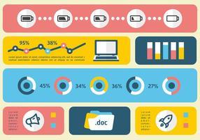 Linjär platt digital marknadsföring vektor illustration