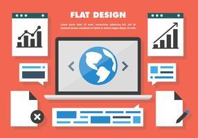 Gratis webbdesign vektor