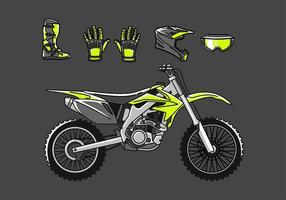 Dirt Bike Set Freier Vektor