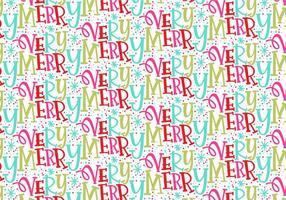 Sehr frohe Weihnachten wiederholen Muster vektor