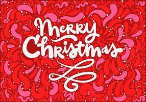 Frohe Weihnachten Beschriftung vektor