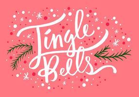 Jingle bells jul bokstäver vektor