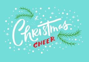 Weihnachten Cheer Lettering vektor