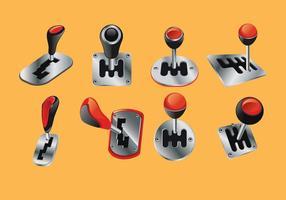 Set Vektor-Illustration Auto Shift Gear 3D sieht vektor