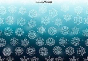 Weiße Schneeflocken NAHTLOSES Muster vektor