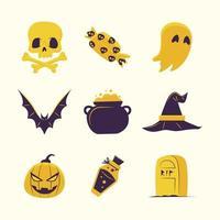 vintage halloween ikon vektor