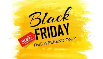 schwarzer Freitag Rabatt Aquarell Pinsel Hintergrund